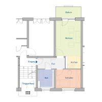 1,5-Raum-Wohnung, ca. 42 m²
